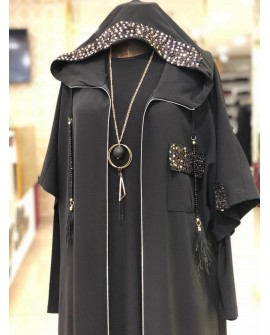 Rentree - Elbise Ferace Takım - Siyah